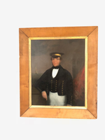 Primitive portrait of a Yacht Captain c. 1850