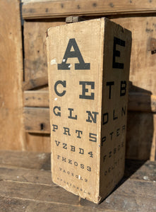 Four sided opticians snellen chart by Down Brothers of St. Thomas Street, London