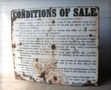 Early 20th c Auction house conditions of sale sign