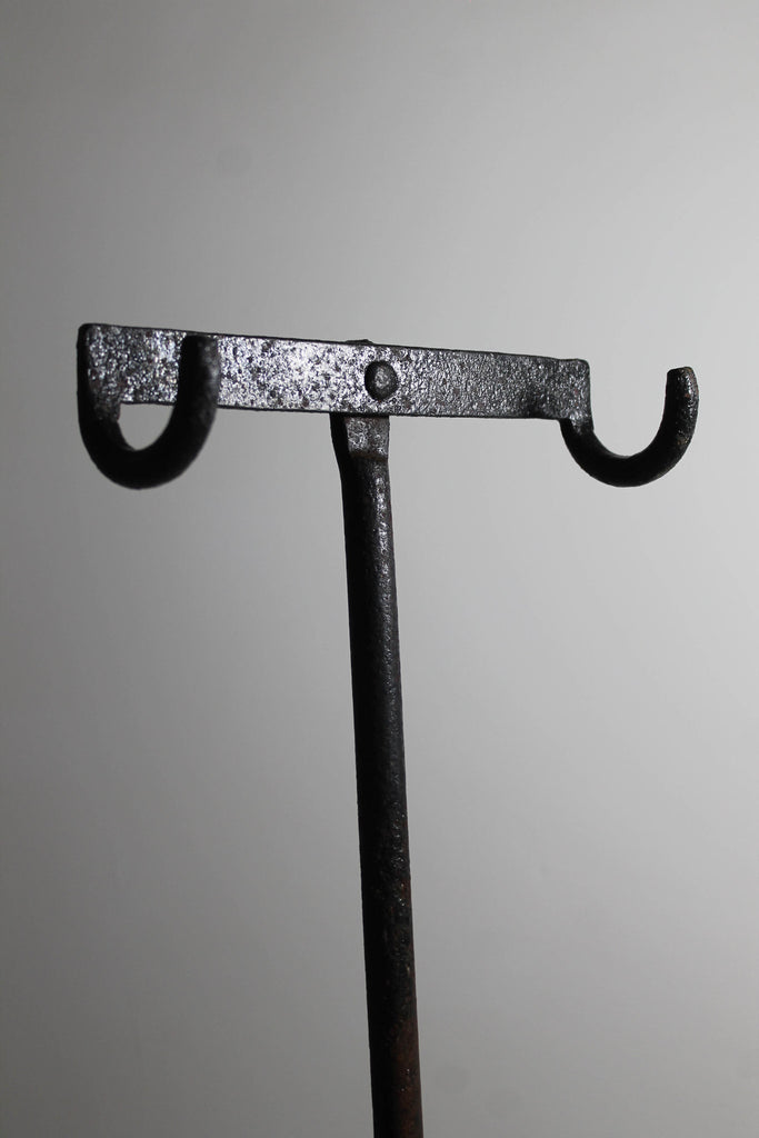 An English Victorian cast iron cycle stand c. 1875