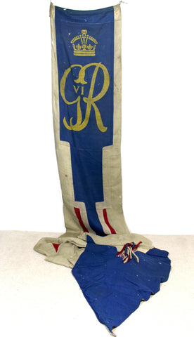 Large George VI royal coronation banner