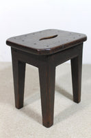 Simple 19th century oak stool of good colour