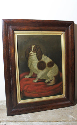 English naive school study of a Cavalier King Charles Spaniel