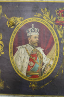 A single rare large George V 1911 Coronation poster mounted on canvas