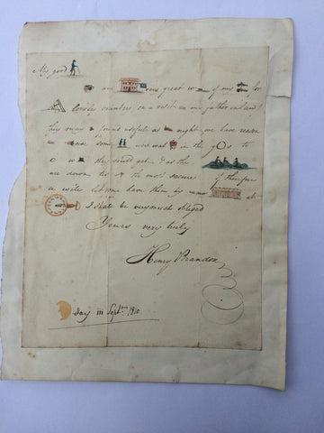 A rare Georgian pictoral letter