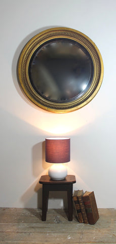 Large Regency convex mirror in original condition