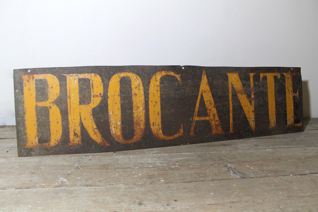 Early 20th century French Brocante sign