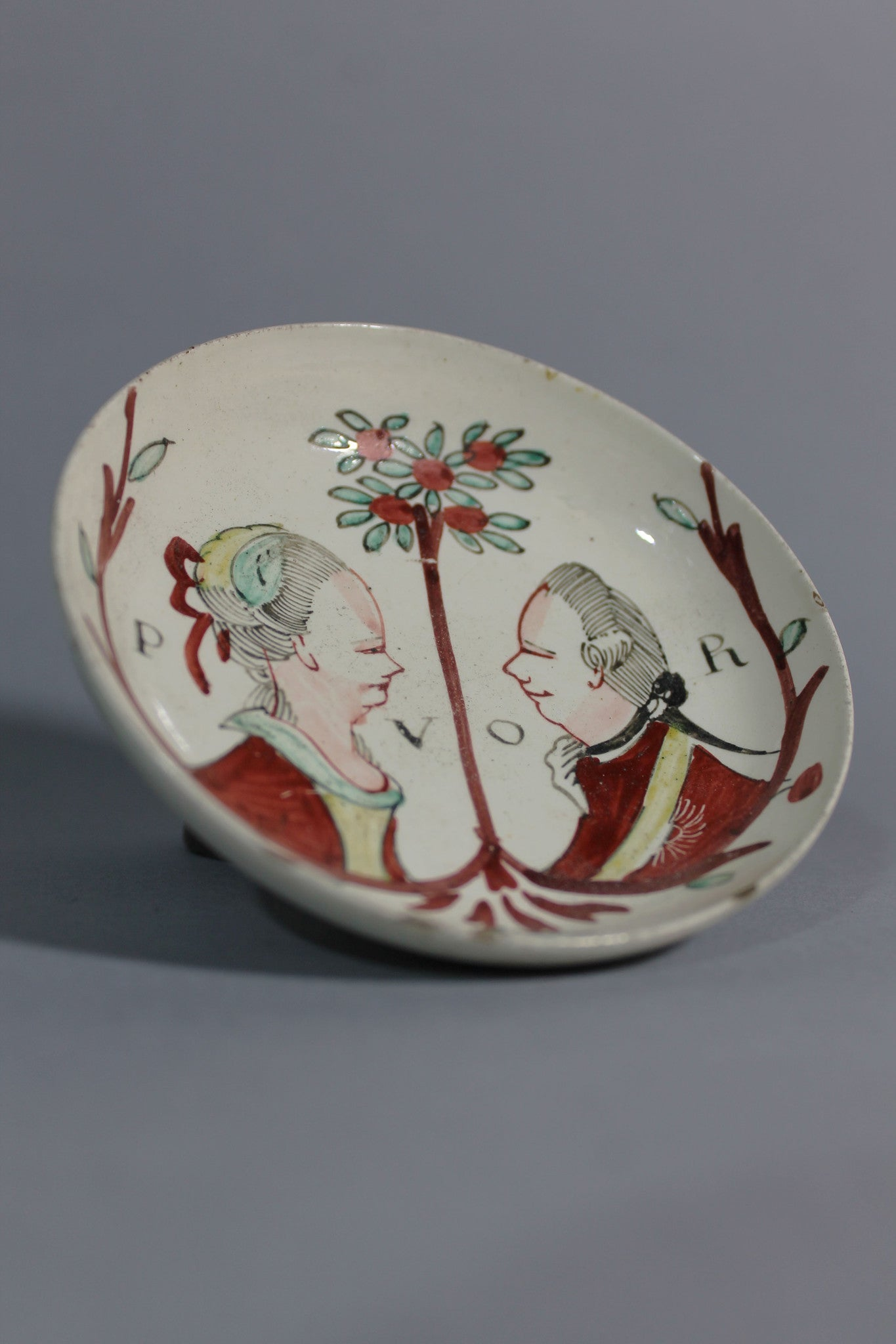 William of Orange commemorative creamware bowl c. 1770