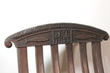 19th century steamer chair with carved dated & initialled crest