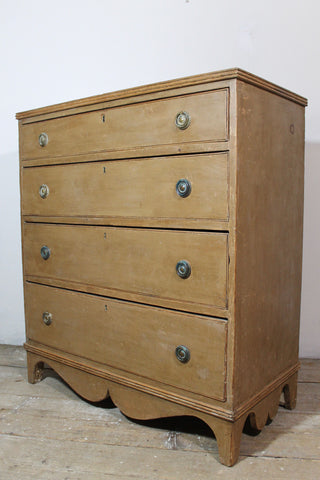 Derbyshire Regency chest of drawers in original paint