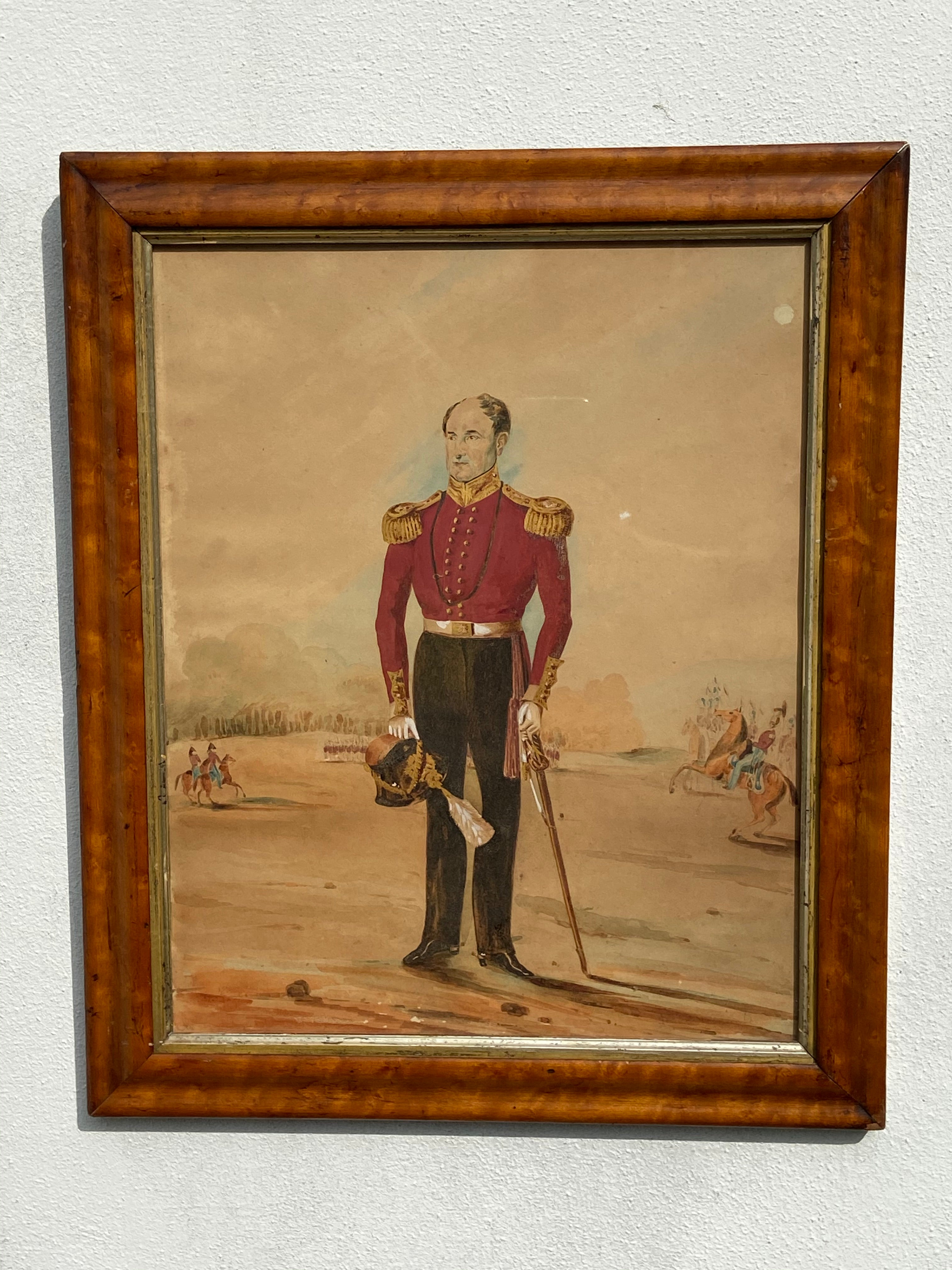 A good early 19th century portrait of a British military officer