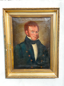Portrait of a red headed Regency gentleman c. 1820