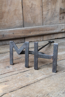 "Unusually large Welsh branding iron ""HM"""