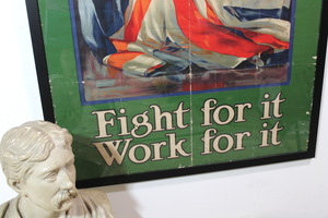 Large British First World War poster 'It's Our Flag Fight for it Work for it'