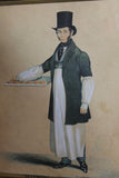 Seth Brown, Bath Pie Man, 1835 watercolour