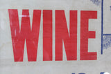 "Early 20th century temperance banner ""Wine is a mocker"""