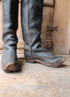 Rare pair of French leather coachman's boots c. 1800