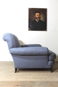A very large 19th century upholstered armchair