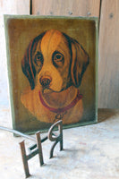 19th c naive study of a hound