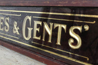 Victorian shop fitting room glass sign
