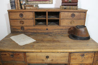 Mid 19th century French shop desk from an antiques dealer's shop
