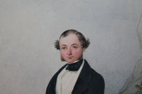 Early  19th c watercolour of a Royal Navy officer, George Perkins RN