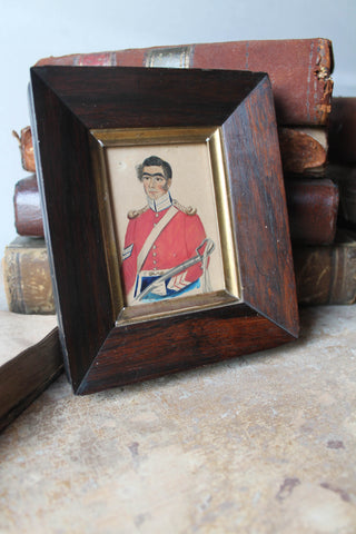 Miniature portrait of a British Army corporal c. 1820