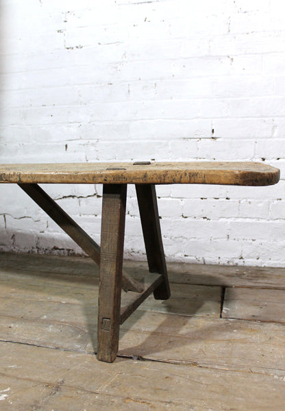 Late 18th century French sycamore bench