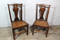 A good pair of George III side chairs of excellent colour
