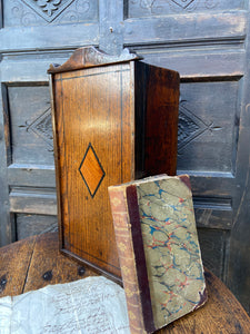 A good early 19th century Welsh oak and fruitwood candlebox