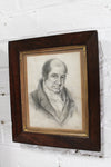 Regency pencil portrait of a gentleman