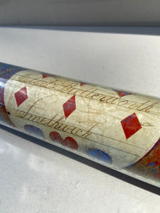 19th century sailor's love token glass rolling pin - Robert Butterworth of Smethwick