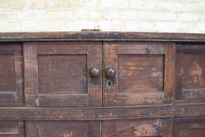 Large Georgian huffer cupboard from a country house
