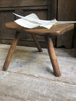 An excellent primitive George III three legged stool of good colour