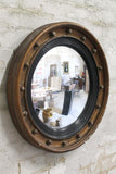 Early 19th c convex mirror with beautifully foxed original plate