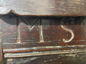 A 17th century Ottery St. Mary, Exeter joined oak chest highly likely from the same workshop in which Thomas Dennis apprenticed, 1687