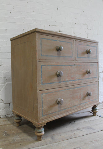 19th c chest of drawers in the original paint