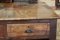 19th c Cornish elm clerk's desk from The Count House, Botallack tin mine