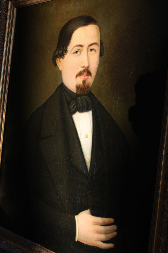 19th century portrait of a gentleman oil on canvas