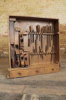 A 19th century English carpenter's tool cabinet