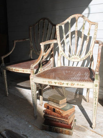 Pair of Regency chairs in the original paint