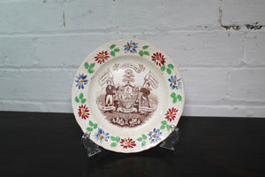Staffordshire child's temperance plate c. 1830