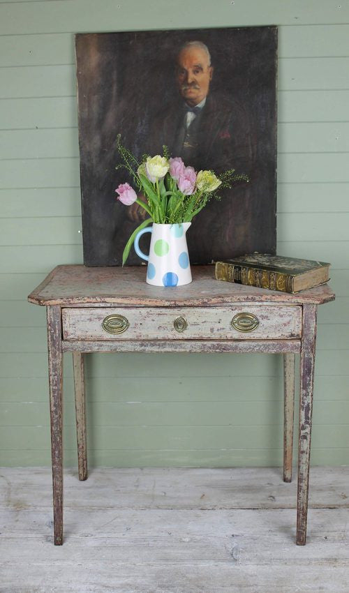 Regency side table dry scraped to the original paint
