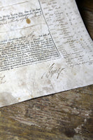 18th century document signed by Admiral Byng