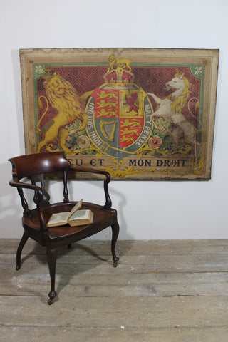 A rare large George V 1911 Coronation poster mounted on canvas