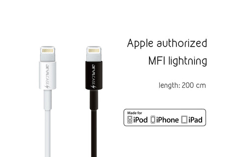 Lightning Cable with MFi C48 Chip (200cm) - Devilcase Philippines