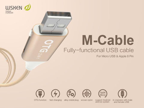 M-Cable Fully-Functional USB Cable (OTG 2 in 1) - Devilcase Philippines