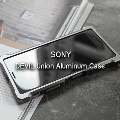 the latest b1663 b03ad Devil Union Aluminum Bumper Case for Xperia X Performance