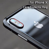 Aluminum Camera Lens Protector Ring for Iphone X