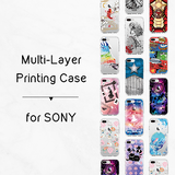 Anti-Impact Plastic Case for Sony Xperia